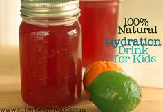 Natural hydration drinks for little competitive athletes! From Super Healthy Kids