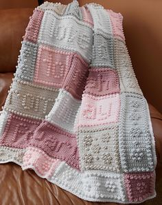 """This crocheted blanket makes a wonderful wedding or bridal gift. An original design, the blanket when finished says, """"to have and to hold to love and to cherish from this day forward."""""""