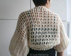 Ganchillo patrón, verano lino algodón Crochet envolver 175    He hecho muchos artículos para mi mamá pero creo que ella ama envuelve más!, le gusta