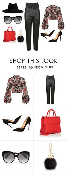 """""""clasic red and black"""" by tekla-kowalczyk on Polyvore featuring moda, Jill Stuart, Christian Louboutin, Givenchy, Alexander McQueen, Furla i Yves Saint Laurent"""