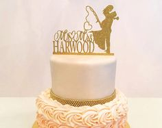Personalized wedding cake topper custom cake by Plasticsmith