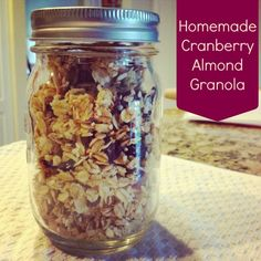Homemade Cranberry Almond Granola - This Gal Cooks