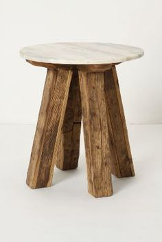 Anthropologie Marble-Top Side Table #anthrofave #anthropologie
