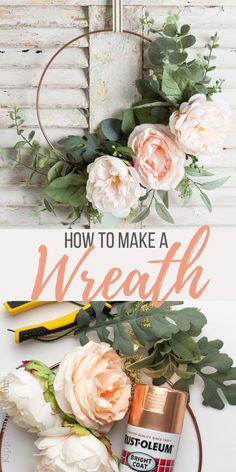 Wreath Crafts, Diy Wreath, Tulle Wreath, Wreath Making, Frame Wreath, Metal Flowers, Diy Flowers, Diy Spring Wreath, Spring Wreaths For Front Door Diy