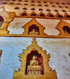 Buddha niches wall-to-wall and up to the ceiling. Ananda Phaya Bagan Myanmar…