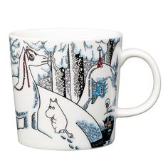Moomin winter season mug 2016 features Moomintroll, Hemulen, Sorry-oo and the Snowhorse from the book Moominland Midwinter. The design is based on Tove Jansson's original artwork which Tove Slotte has interpreted in this lovely mug. Mug holds 3 dl and is manufactured by Arabia. Only made as a limited set.Muumi talvi kausimuki 2016 - Lumihevonen. Mukia koristaa Muumipeikko, Hemuli, Surku-koira sekä lumihevonen. Tuotesarjan kuvitukset perustuvat Tove Janssonin vuonna 1957 ilmestyneen…