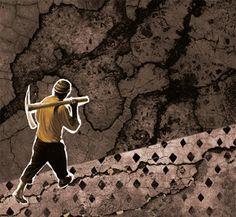 O que há nas pessoas, pedras ou palavras. Texto: Estevão Azevedo. Ilustração: Janio Santos. Suplemento Pernambuco, edição 108, fevereiro de 2015