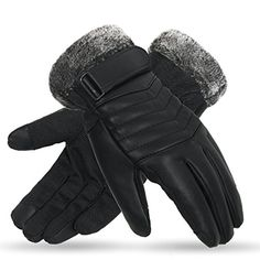 X-Prime Winter Warm Sports Outdoor Touchscreen Fashion Casual Cold Weather  Gloves For Men (B. Black) at Amazon Men s Clothing store  7710b2728f0