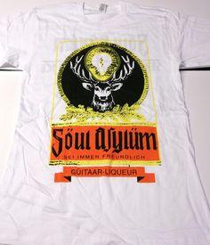 Soul Asylum Guitar Liquor (Jagermeister) 2 Sided T-Shirt - Brand New Soul Asylum, Concert Tees, Freundlich, Wizards, Liquor, Bands, Guitar, Brand New, Rock