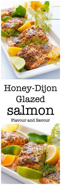 This Honey Dijon Glazed Salmon recipe has been a family favourite for years. It's quick and easy to make. Cooked in foil, you can grill it or bake it. Paleo and gluten-free. #salmon #honeydijon #glazed #foil #grilled #baked #paleo #glutenfree