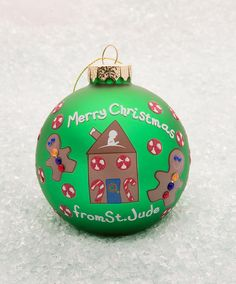 80mm Gingerbread Ornament. Purchase of this ornament will help benefit kids with cancer at St. Jude Children's Research Hospital.