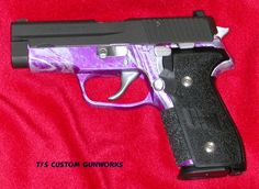 purple rifle | Sig Sauer P228 With Lavander & Silver Frame - 2 PHOTOS - By TJ's ...