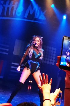 Jade Thirlwall performing on the Get Weird Tour Tokyo.+