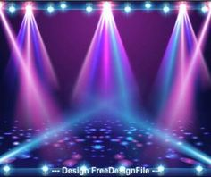 Spotlight with shiny light particles vector Stage Spotlights, Spot Light, Best Resume Template, Vector Background, Illustration, Cool Stuff, Dj Songs, Storyboard, Rainbow