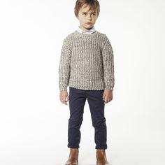 CARREMENT BEAU Pull bicolore en tricot garcon indéterminé - Kids around