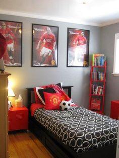 habitación tema fútbol