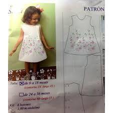Resultado de imagen para patrones de vestidos de niña gratis para descargar Baby Clothes Patterns, Clothing Patterns, Sewing Patterns, Fashion Sewing, Apron, Summer Dresses, Sew Pattern, Dress Template, Templates
