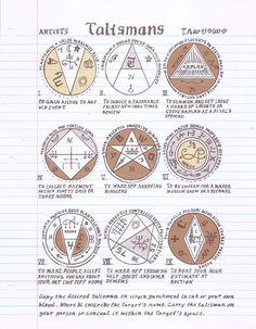 "From William Powhida's ""Magica"" comes this set of talismans. My favorite? ""To Ward Off Annoying Bloggers."""