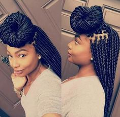 Box Braids Hairstyles 13 box braid updo styles you can try after your next install gallery Love These Braids Cant Wait To Get Mine