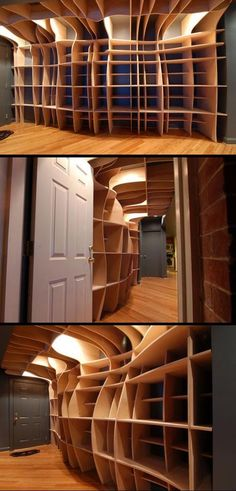 Try getting your head around this shelving :) It's functional art but I truly doubt that I could live with it. It's the work of DBD Studios. You'll find larger images at Inspiration@OBN http://inspiration.theownerbuildernetwork.com.au/