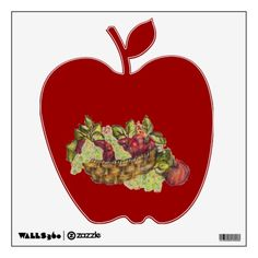 Purchase yourself a bunch of wall decals from Zazzle! Our wall stickers are great for any room in your home or office! Apple Baskets, Room Stickers, Wall Decals, Decor, Dekoration, Decoration, Wall Stickers, Dekorasyon, Home Improvements