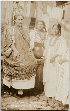 """""""Indian Women from the Interior of Mexico"""" visit us on line at www.mainlymexican... and on eBay #Mexican #Mexico #antique #vintage #photography #women"""