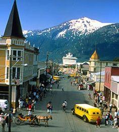 Skagway, Alaska, a quaint town that has not seen much change since the Gold Rush.