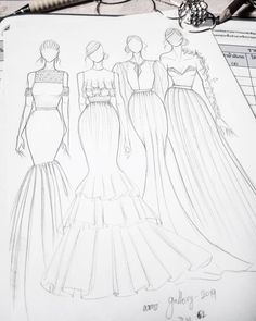 Fashion design sketches 751186412831878759 - Source by paquinclaudine Fashion Drawing Tutorial, Fashion Figure Drawing, Fashion Drawing Dresses, Fashion Illustration Dresses, Drawing Fashion, Dress Design Drawing, Dress Design Sketches, Fashion Design Drawings, Fashion Sketches