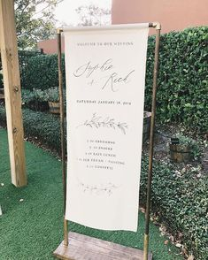 Fabric wedding sign