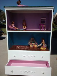 dollhouse from chest of drawers