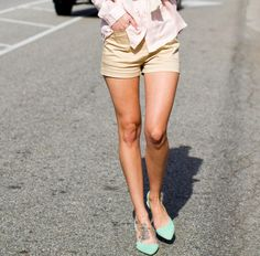 Pointed toe flats.