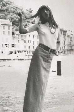 Jane Birkin by Alex Chatelain, 1970 Gainsbourg Birkin, Serge Gainsbourg, Style Jane Birkin, Jane Birken, 70s Fashion, Vintage Fashion, Style Fashion, Hippie Man, Francoise Hardy
