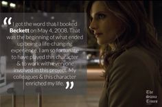 Stana talks about getting Castle role.