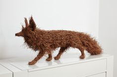 Martha Dimitropoulou / Fox / Sculpture with pine needles / 2013