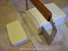 Making soap from turkey fat and hamburger grease!  Really!!