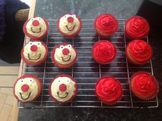 Red Nose Day cakes I made today