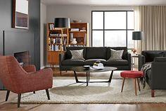 Quinn Chair & Ottoman in View Fabric - Chairs - Living - Room & Board