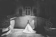 Lace ballgown worn by our bride Diana #blackandwhite #ballgown