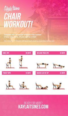 Chair Workout - Kayla Itsines