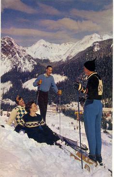 Vintage Skiing Snoqualmie Pass Washington