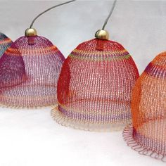Wire weaved Lampshade in warm colors by Yoola on Etsy, $280.00
