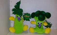 Toy Box Veggie Friends Seedies Plush Lot 2 Crunchy Celery Charles Broccoli NWT #ToyBox