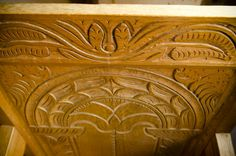 17th Century Hand Carved Oak Chair. VIDEO: Traditional Woodworking Tour: 1600′s English Furniture and Timber Frame Farmhouse (WoodAndShop.com)