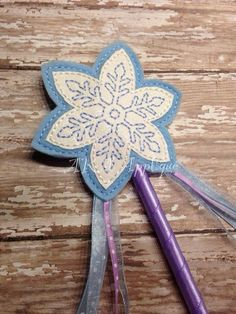 ITH Snowflake Wand Embroidery Design (4.00 USD) by AKAApplique
