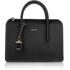 DKNY Handle Bags, Bryant Park Saffiano Leather Tote Black (525 TND) ❤ liked on Polyvore featuring bags, handbags, tote bags, black, zippered tote, black tote bag, tote handbags, black shopper tote and black shopping bags