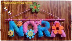 creaciones FOG: nombre en fieltro Nora