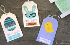 Printable Easter Gift Tags - Fun Family Crafts
