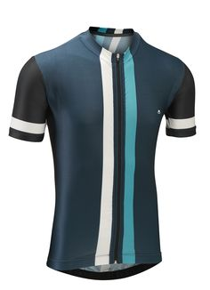 Etape Jersey - Petrol Blue Vertical Stripe
