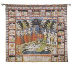 A Pichhavai depicting Dana Lila, Nathdwara, Rajasthan, circa 1850