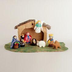 One of my favorite discoveries at WorldMarket.com: Nepal Felt Nativity Set